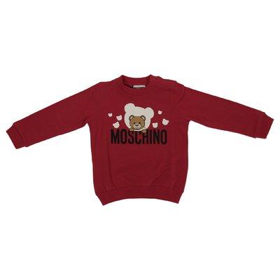 Felpa rossa Teddy Bear in cotone