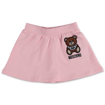 Moschino pink cotton jersey skirt