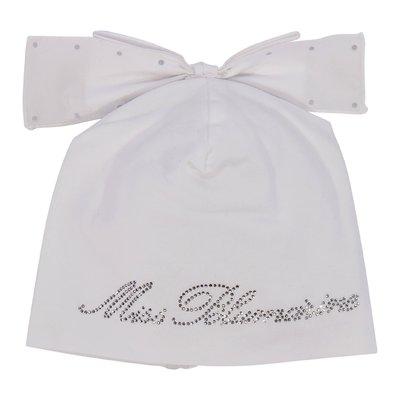 Cappello bianco in cotone elasticizzato