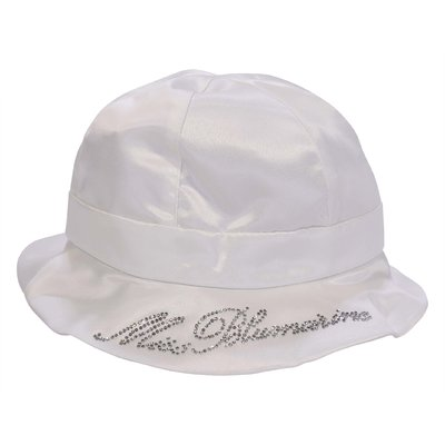 Miss Blumarine white techno fabric hat
