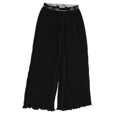 Pantaloni neri plissé in techno tessuto