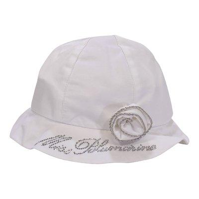 Cappello bianco da cerimonia in misto cotone