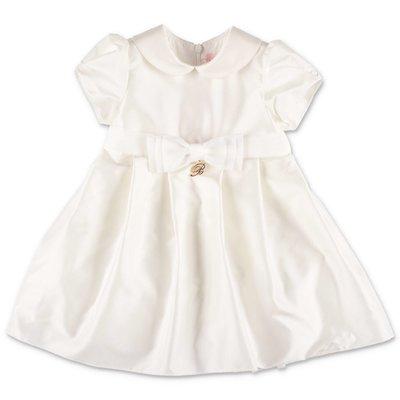 Miss Blumarine abito bianco in raso di seta