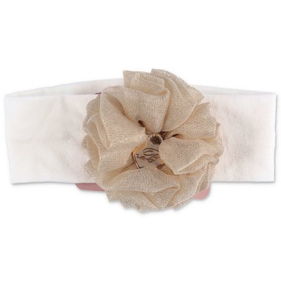 Miss Blumarine white stretch cotton headband