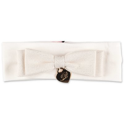 Miss Blumarine white elastic cotton headband