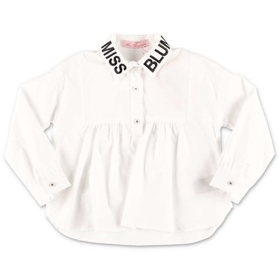 Miss Blumarine white poplin cotton shirt