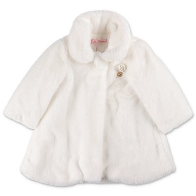 Miss Blumarine white faux fur coat