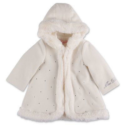 Miss Blumarine white hooded coat