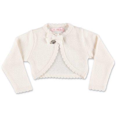 Miss Blumarine coprispalle bianco in misto lana