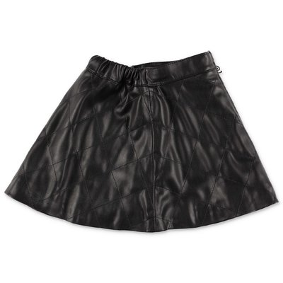 Miss Blumarine black faux leather skirt