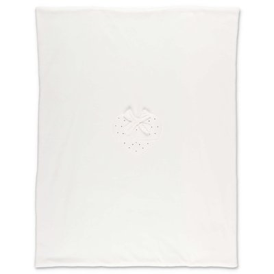 Miss Blumarine white cotton chenille blanket