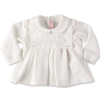 Miss Blumarine white cotton chenille set