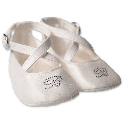 Miss Blumarine ballerine prewalker bianche in raso di cotone