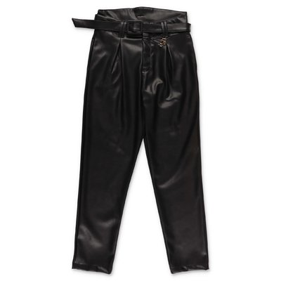 Miss Blumarine black faux leather pants