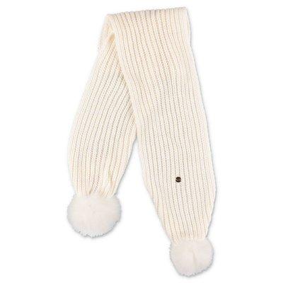 Miss Blumarine white viscose blend knit scarf