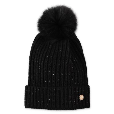Miss Blumarine black wool knit hat