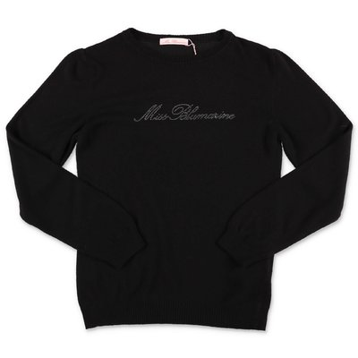 Miss Blumarine black knit jumper