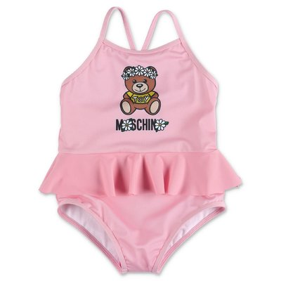 MOSCHINO costume intero rosa Teddy Bear in lycra