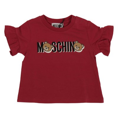 Moschino red logo cotton jersey t-shirt