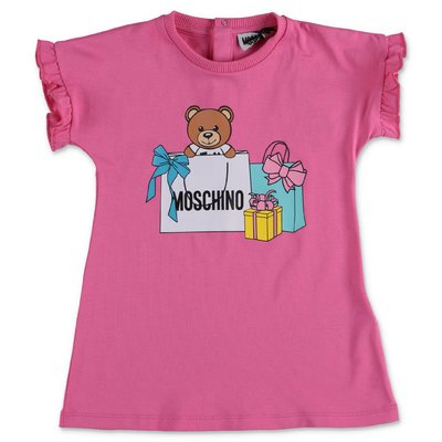 MOSCHINO pink Teddy Bear cotton dress