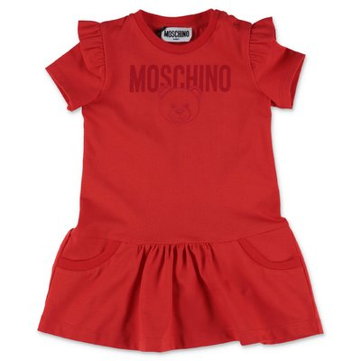 MOSCHINO Teddy Bear red cotton jersey dress