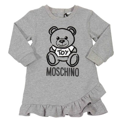 Teddy Bear melange grey cotton dress