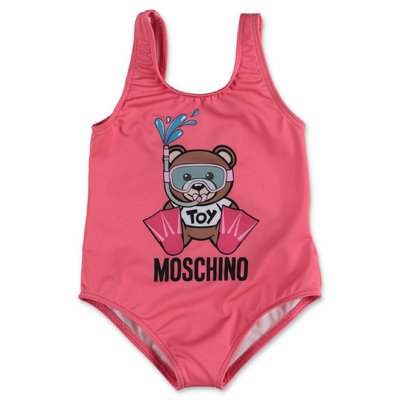 MOSCHINO costume intero rosa Teddy Bear in nylon