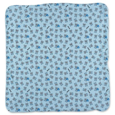 MOSCHINO sky blue cotton jersey blanket