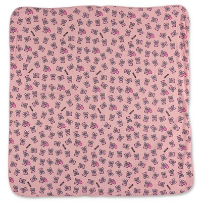 MOSCHINO pink cotton jersey baby girl blanket