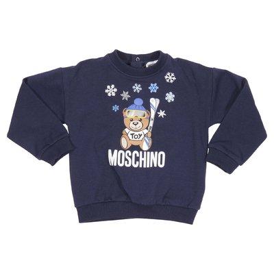 Teddy Bear blue cotton sweatshirt