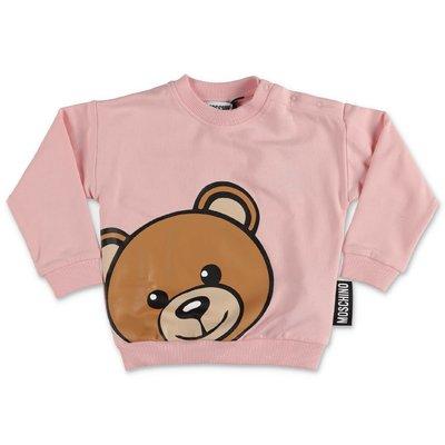 MOSCHINO felpa rosa Teddy Bear in cotone