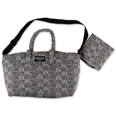 MOSCHINO grey cotton changing bag