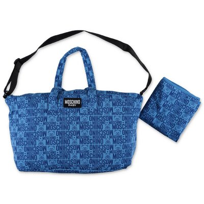 MOSCHINO blue cotton changing bag