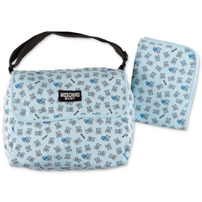 MOSCHINO light blue cotton changing bag
