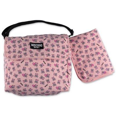 MOSCHINO borsa cambio rosa in cotone