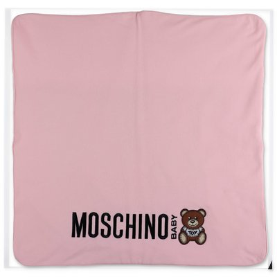 Moschino pink cotton blanket