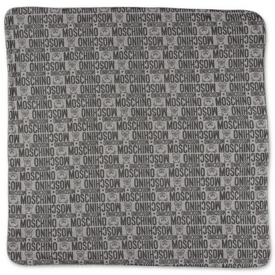 MOSCHINO grey cotton jersey blanket
