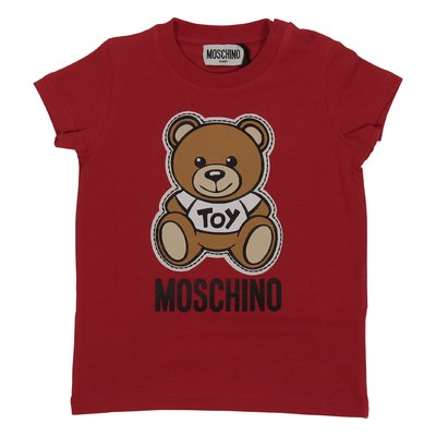 Moschino red cotton jersey Teddy Bear t-shirt