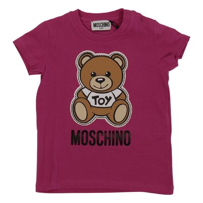 Fuchsia cotton jersey Teddy Bear t-shirt