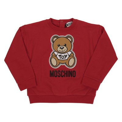 Red cotton Teddy Bear sweatshirt