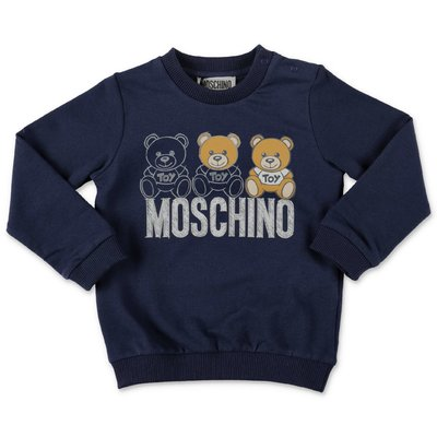 Moschino navy blue cotton sweatshirt
