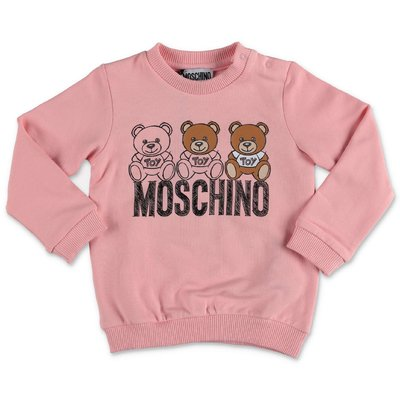 Moschino pink cotton sweatshirt