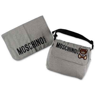 Moschino melange grey cotton changing bag
