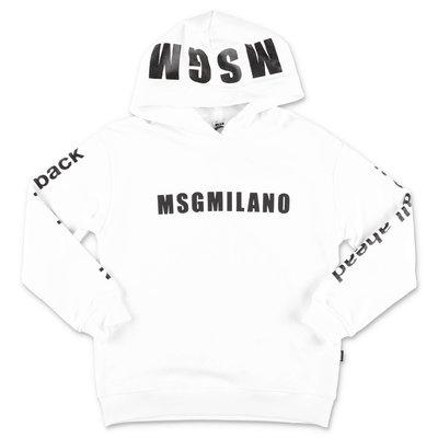 MSGM white cotton hoodie