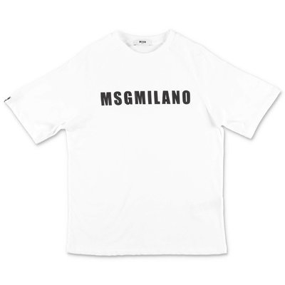 MSGM white cotton jersey t-shirt
