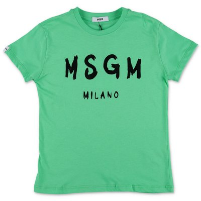 MSGM green cotton jersey t-shirt
