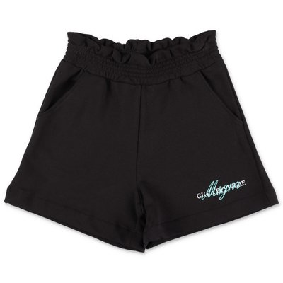 MSGM black cotton sweatshorts