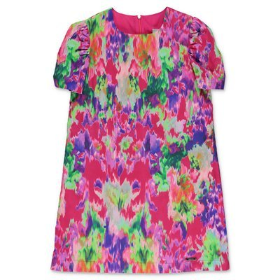 MSGM multicolor printed cotton poplin dress