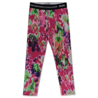 MSGM multicolor print lycra leggings