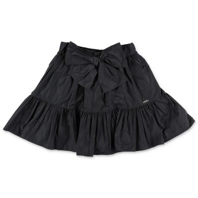 MSGM black techno fabric skirt